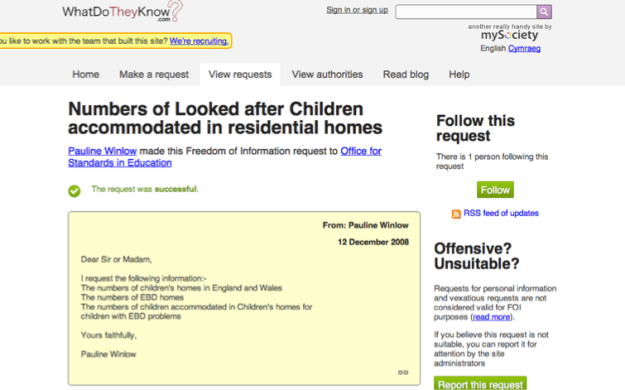 Childrens homes data - an Ofsted leak that wasn't